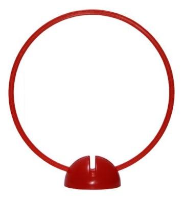 Agility Hundesport - X-Standfuß, rot und Ring / Reifen Ø 40 cm, rot