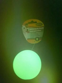 Hundespielzeug Leuchtball