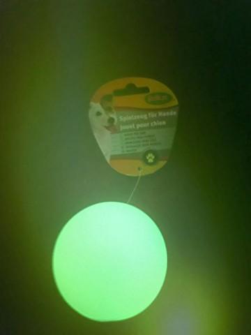 hundespielzeug leuchtball leuchtet im dunkeln nach aufladung. Black Bedroom Furniture Sets. Home Design Ideas