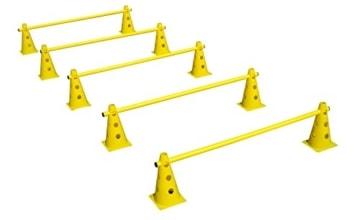 Das HAEST Steckhürdenset für Koordinationstraining – Gelb - 1