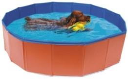 Hundepool für große und kleine Hunde (80 cm), orange/blau