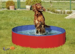 Karlie - Doggy Pool - Blau/Rot 120 x 30cm, Anti-Rutsch