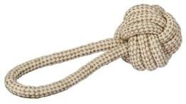 Kerbl Ball am Seil M, Diameter 8 x 21 cm Jute/Baumwolle