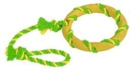 Kerbl Ring am Seil, grün-gelb sortiert, 47 cm