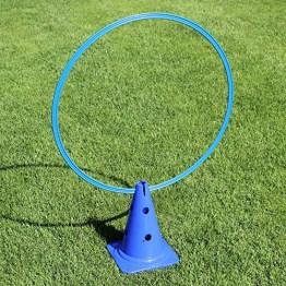 Kombi Kegel 30 mit Kombi-Ring 70 cm, für Agility - Hundetraining (blau)
