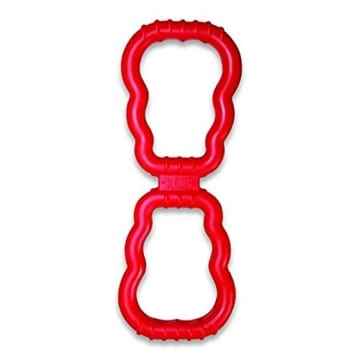 Kong Tug Toy, 33 cm, Wurf- und Zerrspiele, rot/schwarz - 1
