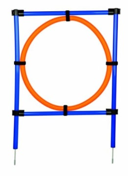 Trixie Dog Activity Agility Ring, 115 × ø 3 cm, ø 65 cm, orange/blau