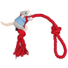 Trixie Hundekönig Maus am Seil, 45 cm/11 cm, mit Schlaufe