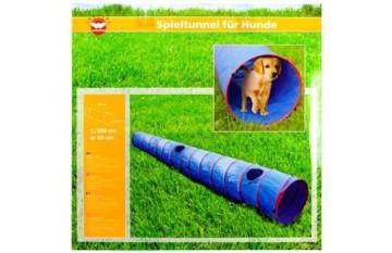 Wehncke Spieltunnel für Hunde 500x60cm, blau/rot