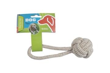 Hundespielzeug Seil mit Kordelball 17cm Baumwolle