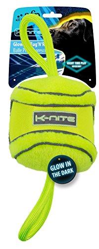 K-Nite Glowing Tug'N'Roll neongelbes Hundespielzeug, fluoreszierend