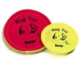 Karlie Nylon-Frisbee - Neon, 24 cm, Spielzeug für Hund und Welpen