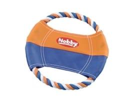Nobby Nylon Frisbee mit Baumwollring