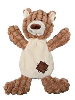 Der niedliche Bär für den Hund ist mit seiner Größe von 30 cm ideal für alle Hundegrößen und Rassen geeignet. Er besteht aus weichem Plüsch.