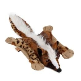 Der niedliche Plüsch Fuchs Plüsch Flatty Fox ist mit einer Größe von ca 54 cm für alle Hundegrößen geeignet. Er macht Pieps- und Knistergeräusche.