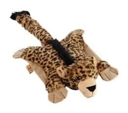 Der Flatty-Leopard ist ein Plüschspielzeug in Kissenform. Er hat keine Füllung. Mit seiner Größe von 54 cm ist er für alle Hundegrößen geeignet.