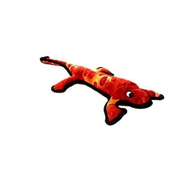 Die Eidechse von Tuffy, der Lizzy Lizard, ist ein großes Spielzeug für Drinnen und Draußen. Es eignet sich fürs Schwimmbecken und am See, es schwimmt.