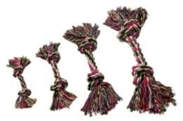 Der Karlie Zahnknoten aus Baumwolle zum Zerren und Apportieren.