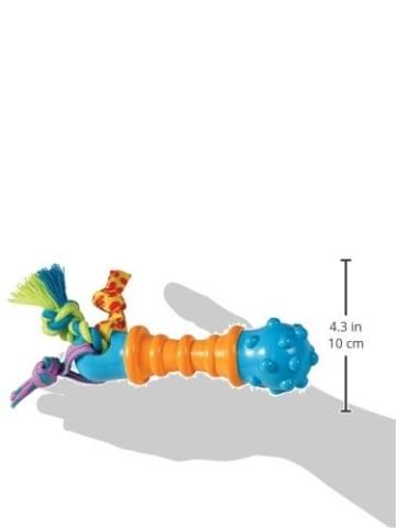Das Petstages Mini Barbell Kauspielzeug, pflegt die Zähne und macht Spaß.