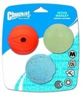 Chuckit! Spielbälle für Hunde, Farbe zufällig, Größe M, 3-teilig